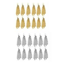 12x Tassel Charms Pendants Jewelry Making Charms Findings Necklace Bracelet DIY
