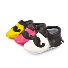 Genuine Leather Cute Beard Baby Kids Tassel Toddler Soft Infant Moccasins Shoes