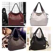 Faux Leather Ladies Tote Shoulder Bag Messenger Cross Body Satchel Hobo Handbag