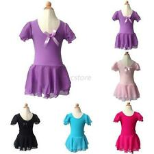 3-13Y Kid Girl Ballet Costume Tutu Skirt Cute Gymnastics Leotard Dance Dress U42