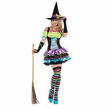 Adult Junior Woman's Girls Halloween Costume Sexy Honey Bumble Bee Neon Witch