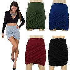 Sexy Women High Waist Stretch Bodycon Clubwear Pencil Slim Pleated Mini Skirt