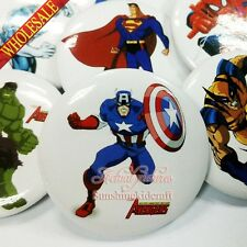 Avengers Super Man Heros Tin Buttons pins BROOCH badges 30MM clothes decoration