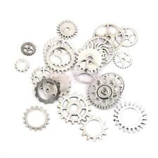 Vintage Steampunk Charms Watch Wheel Charm Pendant Necklace Jewellery Finding