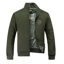 MENS US AIR FORCE PILOT ARMY WORK BOMBER JACKET OUTERWEAR MILITARY WARM JACKET