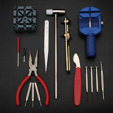 16Pcs Watch Repair Tool Case Opener Replace Bettery Precision Screwdriver Holder