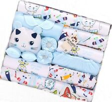 18pcs/Lot Lovely Cat Cotton newborn baby clothing baby winter Fall clothes sets