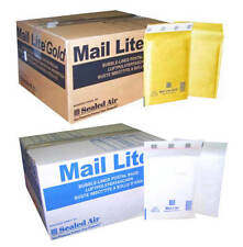 MAIL LITE PADDED ENVELOPES - BUBBLE BAGS - F/3 - WHITE & GOLD- ALL QUANTITY
