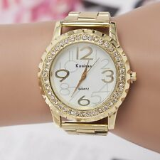 Fashion Luxury Women's Men Stainless Steel Band Quartz Analog Casual Wrist Watch