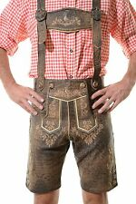 German Bavarian Oktoberfest Lederhosen German Outfit ^JODLER^ Antique Brown