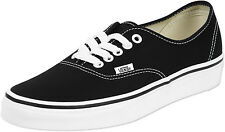 Vans Authentic Black White Skate Mens Womens Shoes Sneakers Sizes 4.5-13