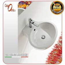 "LAY-ON OR WALL-MOUNTED WASHBASIN WITH HOLE TAP ""PLANET"""
