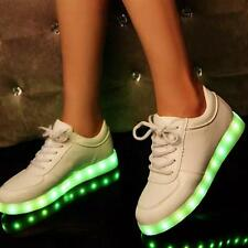 Men Women LED Night Light Up Sneakers Hip-hop Dancer Lace Up Trainers Shoes size