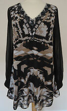 TOGETHER MULTI PRINT LONG TUNIC TOP SIZE 10 12 & 14 BNWT RRP £85.00