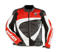 DUCATI Dainese CORSE ´ 12 Leather Jacket Leather Jacket black red new