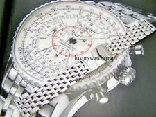 STAINLESS STEEL BRACELET STRAP FOR BREITLING MONTBRILLIANT WATCH 20 22 24mm 316L