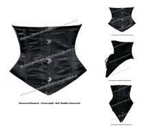 16 Full Steel Boned Heavy Lacing Satin Underbust Shaper Corset #8420(SA)