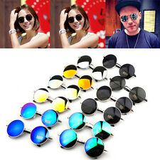 New Vintage Retro Fashion Men Women Round Metal Frame Sunglasses Glasses Eyewear