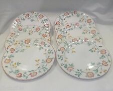 "Briar Rose English Tableware Churchill Staffordshire 10"" Dinner Plates 6 in Lot"