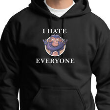 I Hate Everyone Rude Funny T-shirt Attitude Bad Monkey Hater Hoodie Sweatshirt