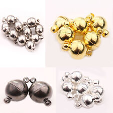 New Silver Gold White K Gun Black Ball Round Strong Magnetic Clasps 5/10Set
