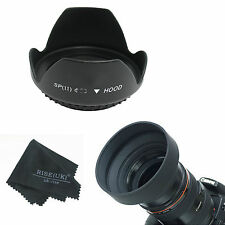 52 58 62 72 77 82mm Petal Flower & Collapsible Rubber lens hood for Nikon Canon