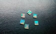 6mm Ethiopian Welo Opal Square Cut Calibrated Size Multi fire Loose Gemstone