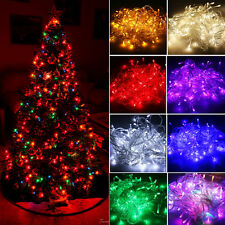 Christmas 10M/20M 100/200LED Bulbs String Light Fairy Party Waterproof Outdoors