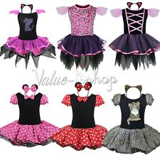 Halloween Girls Baby Xmas Leopard/Minnie Mouse Party Costumes Ballet Tutu Dress