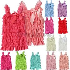 Baby Girl Kids Lace Ruffles One-Piece Photo Prop Romper Jumpsuit Bodysuit Outfit