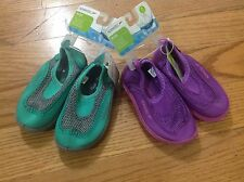 speedo kids beach, pool,  water parks, swimming shoes green or purple  NWT