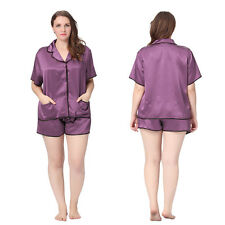 Women Silk Pajamas Set 22 Momme 100% Mulberry Silk Sleepwear Plus Size Lilysilk