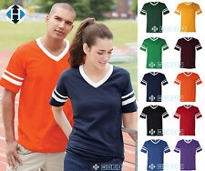 NEW. Augusta Sportswear - V-Neck Jersey with Striped Sleeves - 360