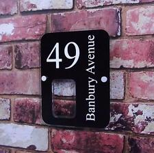 MODERN HOUSE NUMBER SIGN STREET ADDRESS PLAQUE GLASS EFFECT PERSONALISED ACRYLIC