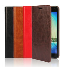 Genuine Leather Flip Wallet Card Phone Holder Cases Covers For Samsung Galaxy A7