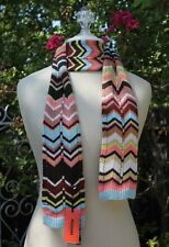 NEW! Missoni Target Knit Long Scarf Shimmer Colore Blue or Passione purple