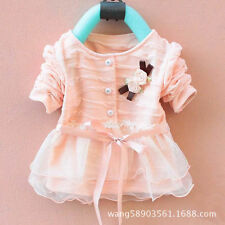 1pcs baby girls kids autumn clothing tops outwear baby girls clothing flower