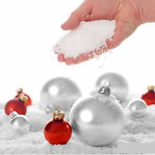30g CHRISTMAS ARTIFICIAL INSTANT SNOWFLAKE FAKE SNOW FLUFFY DECORATION