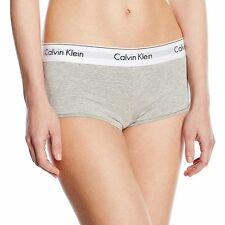 Calvin Klein Underwear CK Womens Modern Cotton Short, Grey Stretch Cotton Modal
