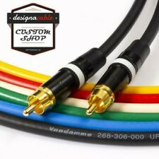 SPDIF Digital Audio Video Coaxial Cable RCA to RCA Van Damme 75ohm Coax White
