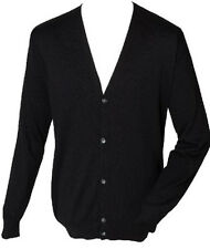 Henbury Mens Outwear Long Sleeves V-Neck Button Fastening Cardigan Sweater UK