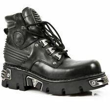 NEWROCK New Rock 924-S1 Metallic Mens Black Gothic boot Leather Boots
