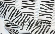 Zebra Print Grosgrain Ribbon 1 yard (3 ft of Zebra Grosgrain Ribbon) Assort Size