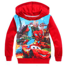 Kids Boys Spider-man Sports Long Sleeve Hoodies Sweatshirts Jumper Coat For 2-8Y
