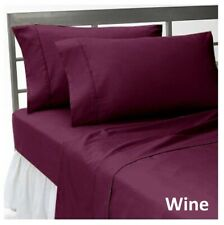 1000tc 100%Egyptian Cotton Wine Bedding Items Sheet Set/Duvet Set/Fitted/Flat