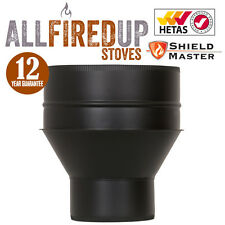 Twin Wall Insulated Flue Pipe Increaser From Vitreous Shieldmaster Black
