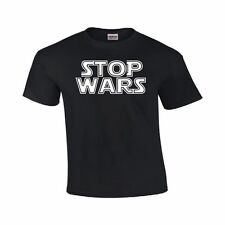 STOP WARS Anti War Star Movie Parody PEACE Geek Cool Funny Party T Shirt