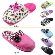 Women Winter House Slippers Furry Indoor Soft Warm Girl Lady Comfy Shoes S M L