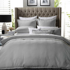 Private Collection METRO SILVER Doona Quilt Cover Set Queen King Super King
