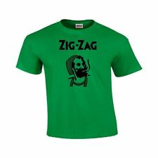 Zig Zag MAN Cigarrette Rolling Papers New  College Party T Shirt